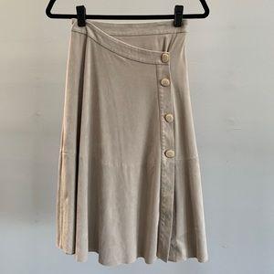 Zara Button Suede Skirt